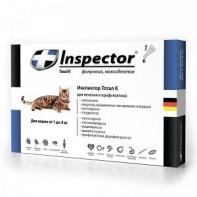 Inspector Капли от экто- и эндопаразитов Для кошек 1-4 кг