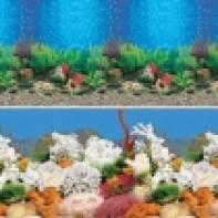 """Фон 9019/9029, 0,5*15м """"Голубые Гавайи/Белый коралл"""""""